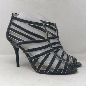 Michael Kors Womens Leather Gladiator Heels Sz 8 M